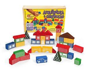 Brinquedo Educativo Arquitetura E Construção 50 Peças - JOTTPLAY