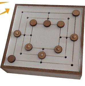 Brinquedo Educativo Jogo de Trilha Adaptado Estojo Em MDF - FUNDAMENTAL