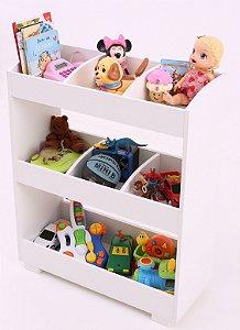 Organizador Infantil Rosa Candy para quarto e brinquedoteca