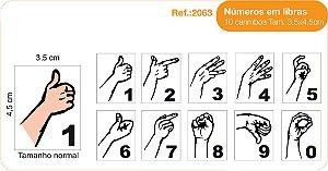 Carimbos Pedagógicos Números Em Libras - 10 Un. 35x45cm - Fundamental