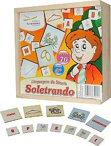 Brinquedo Educativo Linguagem de Sinais Soletrando Libra - FUNDAMENTAL