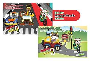 Jogo Educativo Quebra Cabeça Transito Ciclistas 24 Peças - Way