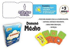 Jogo Educativo Dominó Médio Multiplicação 30 Peças - Way