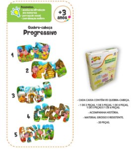 Quebra Cabeça Progressivo A BELA ADORMEÇIDA 20 Peças- Way