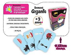 Jogo Educativo Dominó Gigante DESENHOS E PALAVRAS 30 Peças - Way