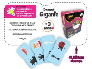 Jogo Educativo Dominó Gigante CORES 30 Peças - Way