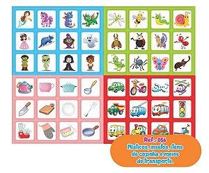 Jogo Memória Místicos - Insetos - Cozinha - Transportes 48 Pares - Way