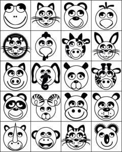 Carimbos Pedagógicos Animais diversos para Colorir - JOTTPLAY