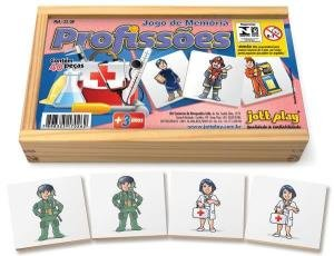 Brinquedo Educativo Jogo De Memória Profissões 40 Peças - JOTTPLAY