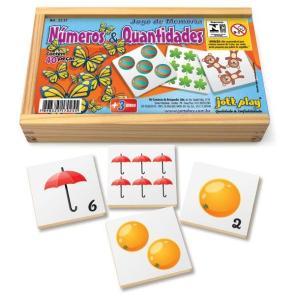 Brinquedo Educativo Jogo De Memória Números E Quantidades 40 Peças - JOTTPLAY