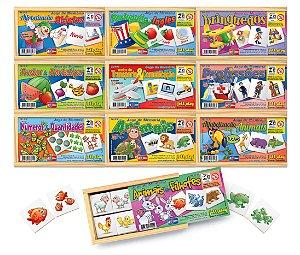 Brinquedo Educativo Kit Com 10 Jogos De Memorias - JOTTPLAY