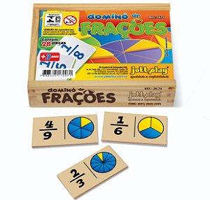 Brinquedo Educativo Dominó De Frações 28 Peças - JOTTPLAY