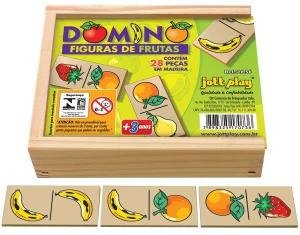 Brinquedo Educativo Dominó De Frutas 28 Peças - JOTTPLAY