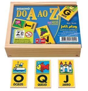 Brinquedo Educativo Dominó Do A Ao Z 24 Peças - JOTTPLAY
