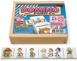 Brinquedo Educativo Dominó Posição 28 Peças - JOTTPLAY