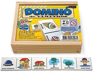 Brinquedo Educativo Dominó Tamanhos 28 Peças - JOTTPLAY