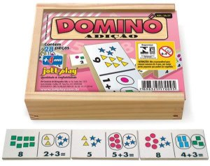 Brinquedo Educativo Dominó Adição 28 Peças - JOTTPLAY
