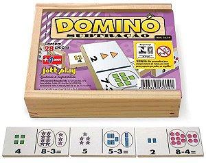 Brinquedo Educativo Dominó Subtração 28 Peças - JOTTPLAY