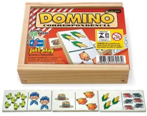 Brinquedo Educativo Dominó Correspondência 28 Peças