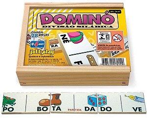 Brinquedo Educativo Dominó Divisão Silábica 28 Peças - JOTTPLAY
