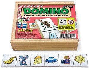 Brinquedo Educativo Dominó Associação De Idéias 28 Peças - JOTTPLAY