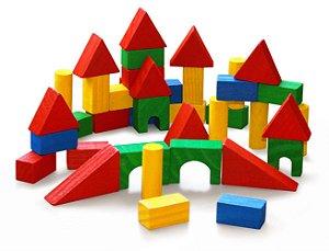 Brinquedo Educativo Blocos De Construção Com 40 Peças - JOTTPLAY