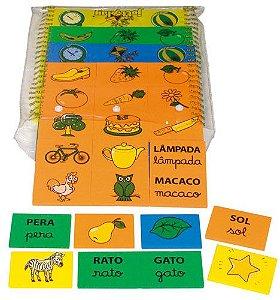 Brinquedo Educativo Cartas Para Ditado Em E.V.A Com 48 Peças - JOTTPLAY