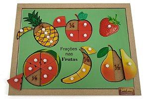 Brinquedo Educativo Círculos De Frações Frutas Com Pinos - JOTTPLAY