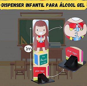 Totem Dispenser Para Alcool Gel - Turma da Tyta - Carlu