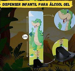 Totem Dispenser Para Alcool Gel - Dinossauro - Carlu