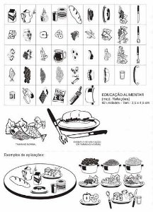 Carimbos Pedagógicos Edu Alimentar (Mod. Refeicoes Interativo) - 42 Peças - Carlu