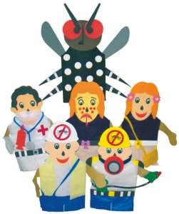 Conjunto Fantoches Comb. A Dengue -Sem Expositor- 6 Pers.-Emb. Plást. - Carlu