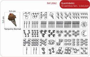 Carimbos Pedagógicos Quantidades - 40 Un. - Fundamental