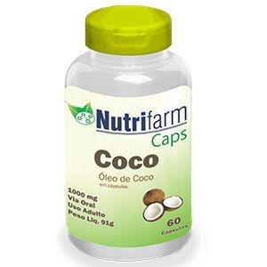 Óleo de Coco - 60 cápsulas – 1000mg – Nutrifarm