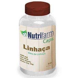 Óleo de Linhaça - 60 cápsulas – 1000mg – Nutrifarm