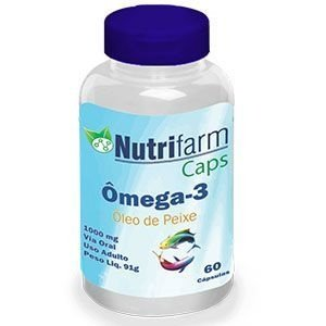 Ômega 3 - 60 cápsulas - 1000mg - Nutrifarm