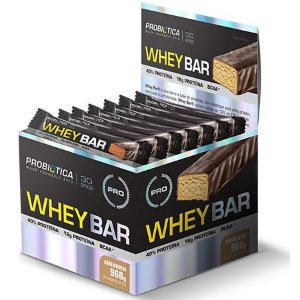 Whey Bar - Display com 24 unidades - Probiótica