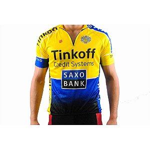 Camisa Masculina Barbedo Saxo Bank Tinkoff Manga Curta
