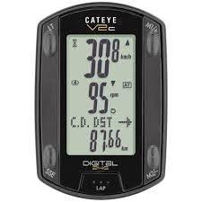 Velocimetro Cateye V2c Speed + Cadence Wireless TR200DW Black