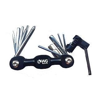 Ferramenta Canivete WG Sports 10 Funções Preto