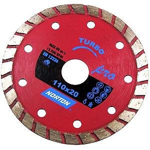 Disco de Corte Diamantado Turbo 110mm x 20mm Norton