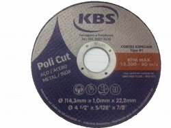 Disco de Corte Extra Fino 4.1/2 X 1mm - Kbs