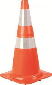 Cone de PVC Refletivo Laranja 75 cm Norma ABNT - Plastcor