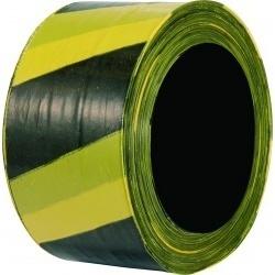 Fita Zebrada 70mmx200m Amarelo/Preto - Plastcor