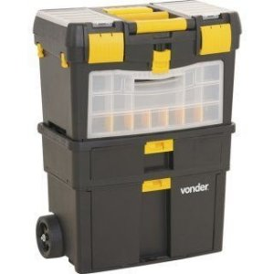 Caixa Organizadora Plástica Porta Ferramentas com Roda CRV0100 - Vonder