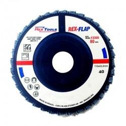 Flap Disc Reto 4.1/2 Grão 40 Rex