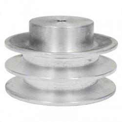 Polia De Aluminio 2 Canais A 100mm