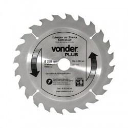 Disco de Serra Circular com 24 Dentes 250mm Metal Duro/vídea - Vonder