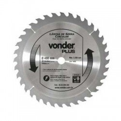 Disco de Serra Circular com 36 Dentes 400mm Metal Duro/Vídea - Vonder