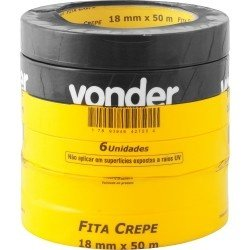 Fita Crepe 18x50m Branca Papel Crepado - Vonder